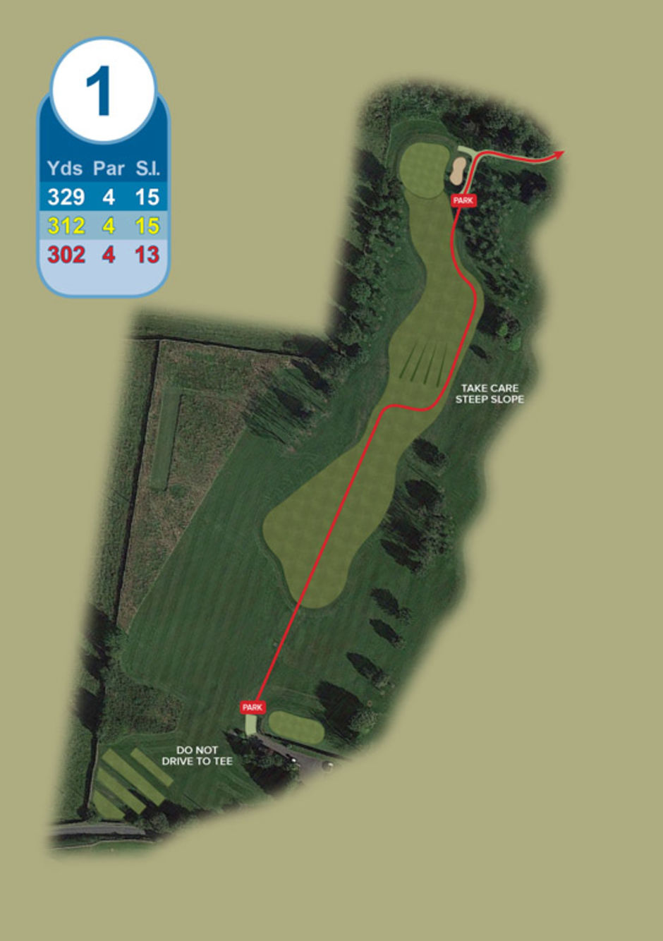 Longridge Golf Club Buggy Route Hole 1