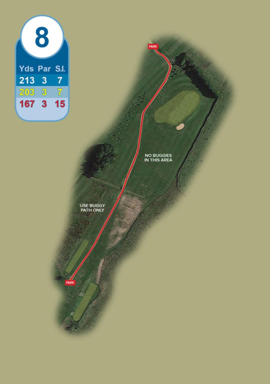 Longridge Golf Club Buggy Route Hole 8