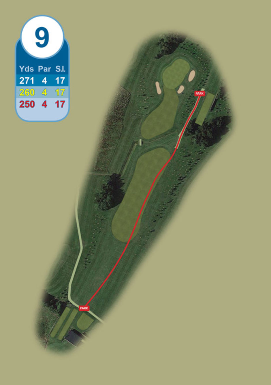 Longridge Golf Club Buggy Route Hole 9