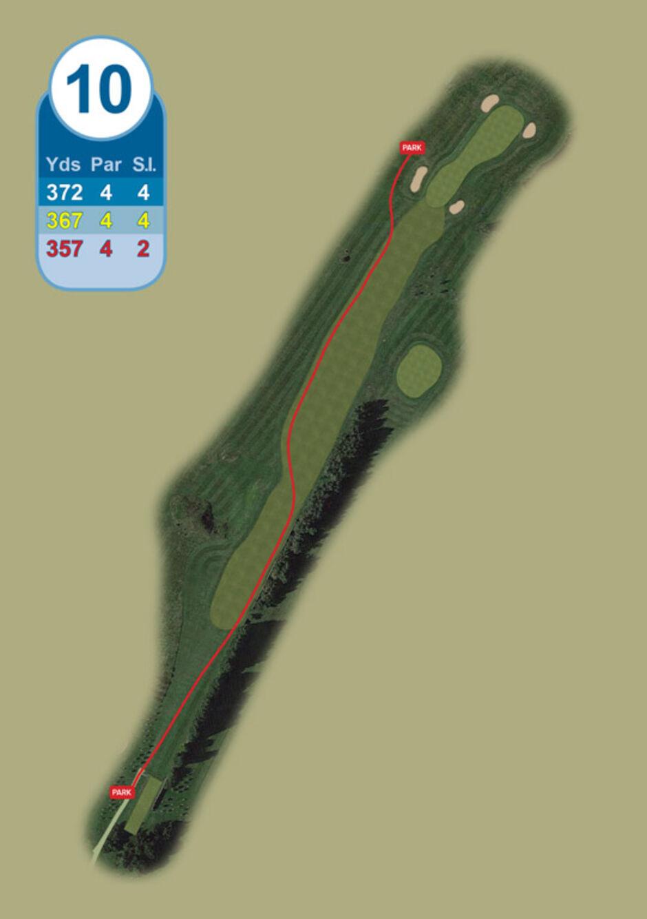 Longridge Golf Club Buggy Route Hole 10