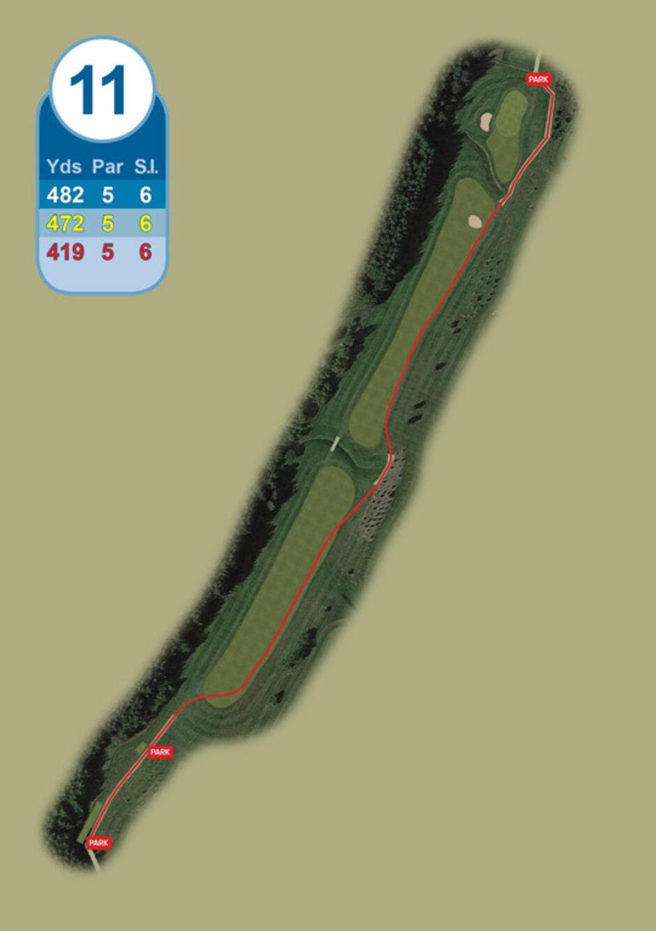 Longridge Golf Club Buggy Route Hole 11