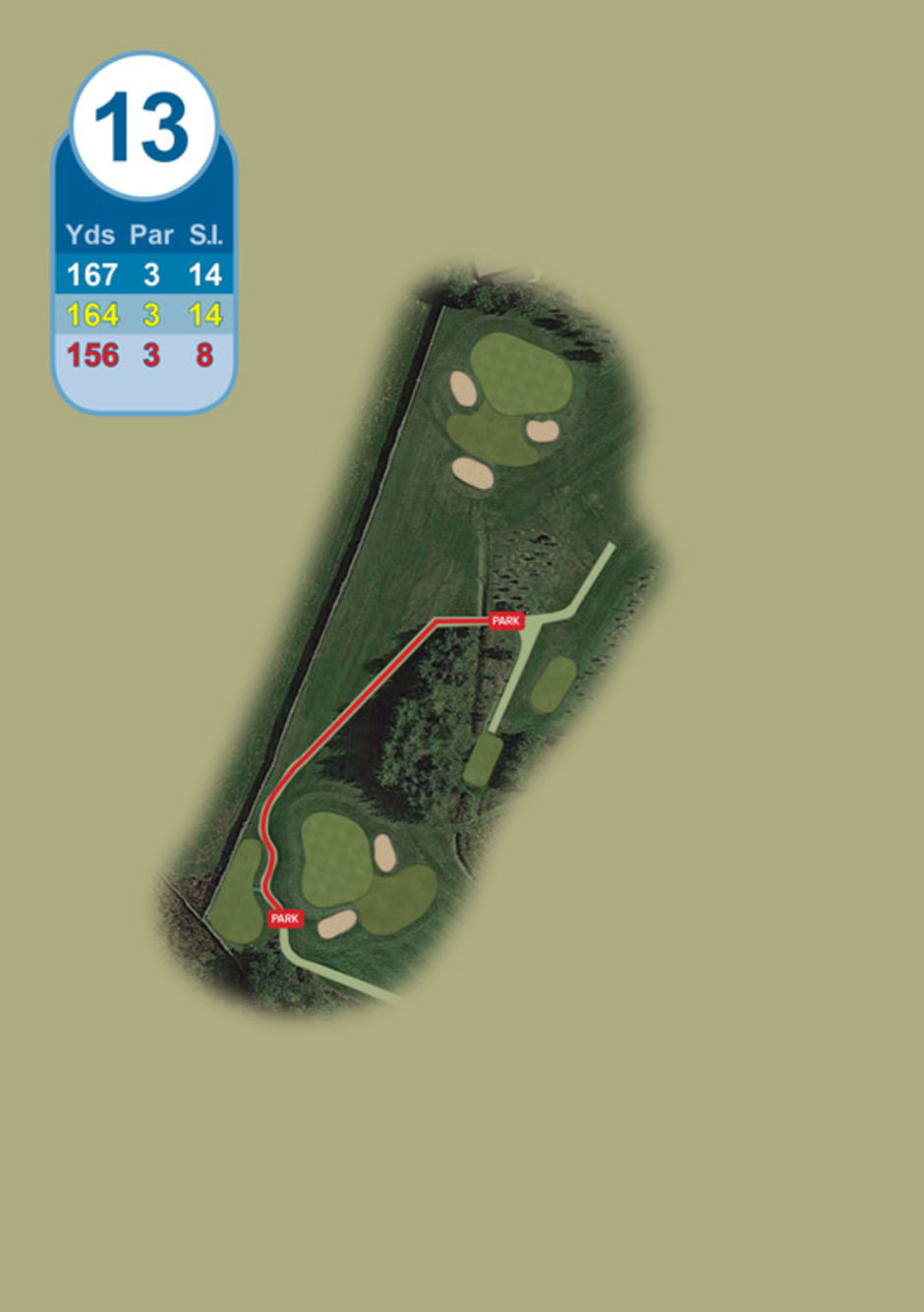 Longridge Golf Club Buggy Route Hole 13