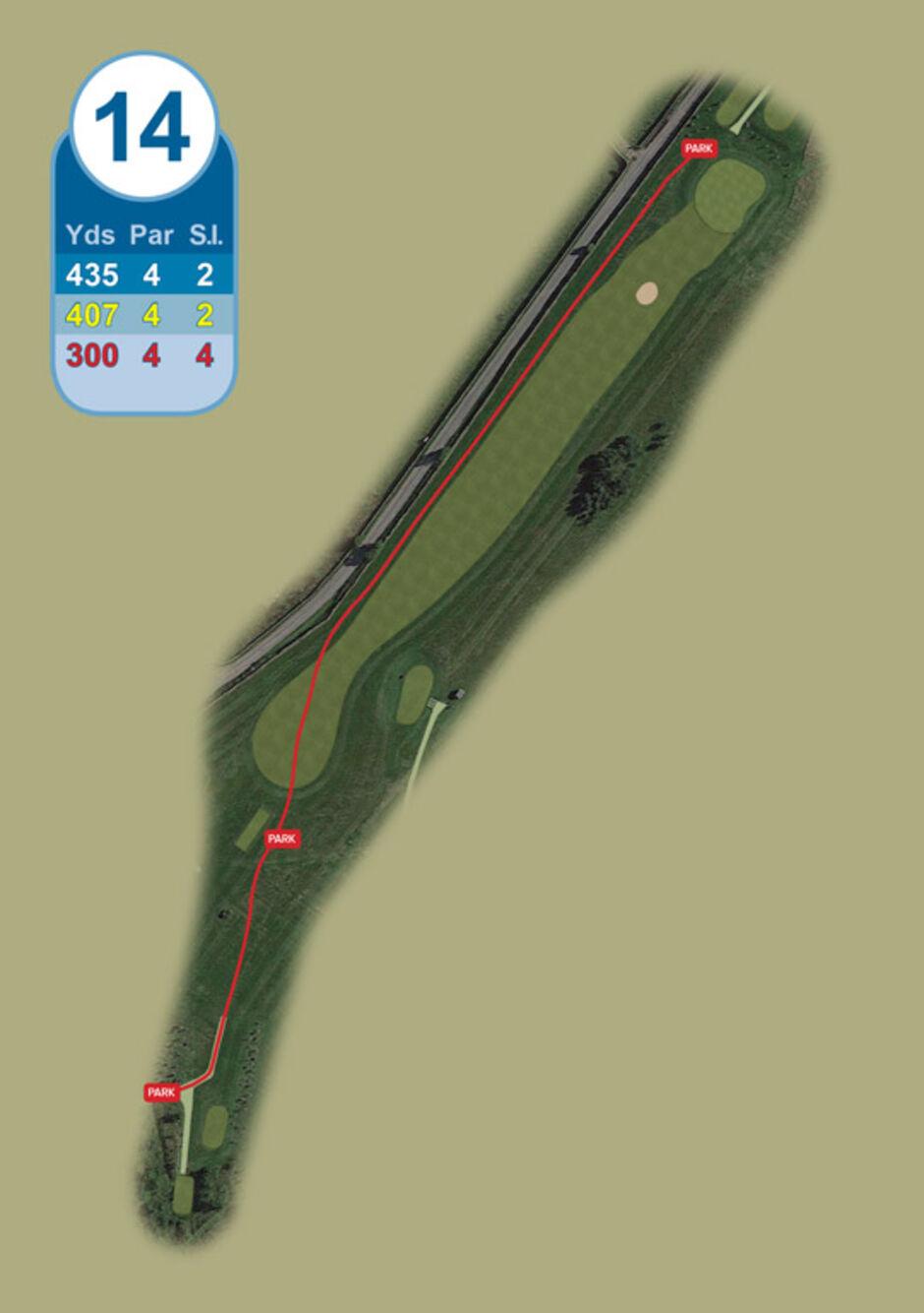 Longridge Golf Club Buggy Route Hole 14