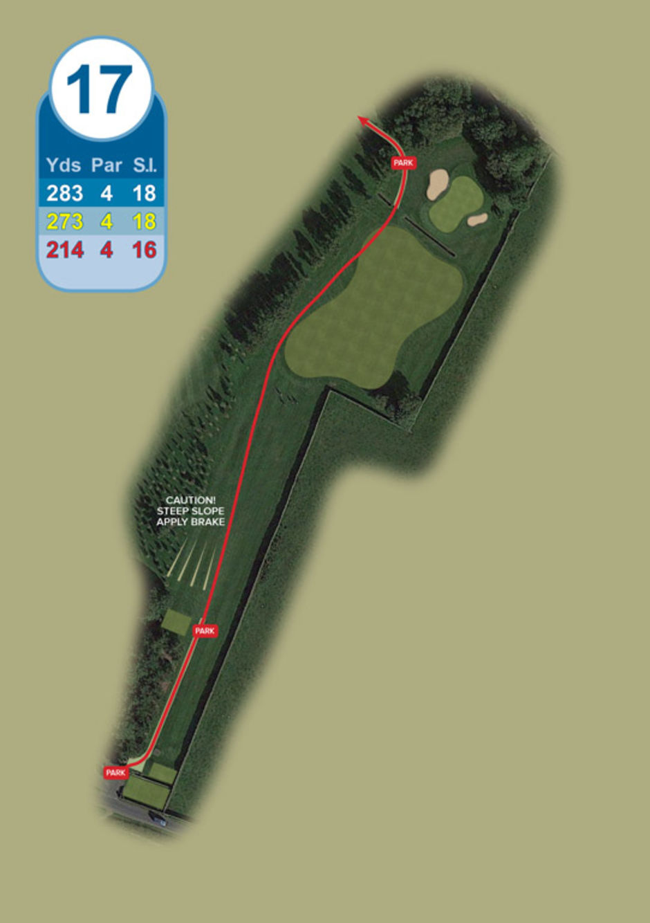 Longridge Golf Club Buggy Route Hole 17