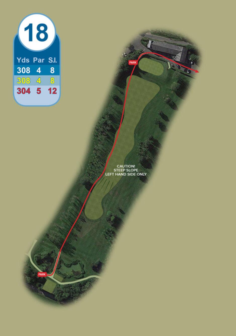 Longridge Golf Club Buggy Route Hole 18